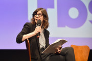 Moderator Carrie Brownstein speaks onstage at the Full Frontal with Samantha Bee FYC Event 2017 LA at the Samuel Goldwyn Theater on May 23, 2017 in Beverly Hills, California. 27026_002