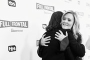 Image has been shot in black and white.) Actor Carrie Brownstein (L) and Executive producer/host Samantha Bee at the Full Frontal with Samantha Bee FYC Event 2017 LA at the Samuel Goldwyn Theater on May 23, 2017 in Beverly Hills, California. 27026_002