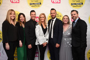 """(L-R) Campbell Smith, Jennifer Kim,  Brett Weitz, Samantha Bee, Thom Hinkle, Ashley Golden, and David Wolkis attend """"Full Frontal With Samantha Bee"""" Not The White House Correspondents Dinner at DAR Constitution Hall on April 26, 2019 in Washington, DC. (Photo by Dimitrios Kambouris/Getty Images for TBS) 558302"""