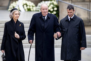 King Juan Carlos of Spain and Queen Sofia of Spain attend the funeral of Grand Duke Jean on May 04, 2019 in Luxembourg, Luxembourg.