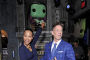 Zoe Saldana and Brian Mariotti attend the Funko Hollywood VIP Preview Event at Funko Hollywood on November 07, 2019 in Hollywood, California.