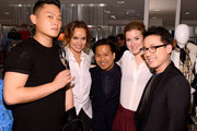 (L-R) Justin Min, Kelly Framel, Elgene Castueras, Erin Framel and Joseph Parcon attend Furla X the Glamourai at Bloomingdale's 59th Street Store on June 12, 2014 in New York City.