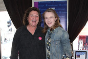 Dot Jones and Finneas O'Connell attend day 2 of GBK Gift Lounge during MTV Movie Awards weekend at Hollywood Roosevelt Hotel on April 11, 2015 in Hollywood, California.