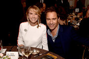 Janet Holden (L) and Eric McCormack attend the GLSEN Respect Awards at the Beverly Wilshire Four Seasons Hotel on October 19, 2018 in Beverly Hills, California.