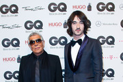 (L-R) Roberto Cavalli and Daniele Cavalli attend the GQ Man of the Year Award at the Komische Oper on October 28, 2011 in Berlin, Germany.