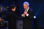 (EXCLUSIVE ACCESS. PREMIUM RATES APPLY) Katrin Sass and Tom Jones are seen on stage at the GQ Men of the year Award 2015 show (german: GQ Maenner des Jahres 2015) at Komische Oper on November 5, 2015 in Berlin, Germany.