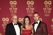 Kim Ledger, Ines Ledger and Mojean Aria attends the GQ Men Of The Year Awards at The Star on November 15, 2017 in Sydney, Australia.