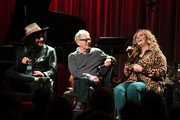 (L-R) Producer Don Was, recording enginer Al Schmitt and singer Trisha Yearwood discusses her new album of Frank Sinatra songs and performs at The GRAMMY Museum on January 08, 2019 in Los Angeles, California.