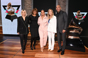 (L-R) Bebe Rexha, Gayle King, Alicia Keys, Recording Academy president and CEO Deborah Dugan and Chair of the Board of Trustees of the Recording Academy Harvey Mason Jr. attend the GRAMMY Nominations Press Conference at CBS Studios on November 20, 2019 in New York City.