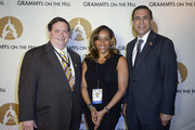 (L-R) Blake Farenthold, Kathy Sledge, Darrell Issa attend the GRAMMYs on the Hill Awards at The Hamilton on April 13, 2016 in Washington, DC.