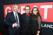 (L-R)  British Consul General Michael Howells, Gary Oldman, and Gisele Schmidt attend the Great British Film Reception honoring the British nominees of The 90th Annual Academy Awards on March 2, 2018 in Los Angeles, California.