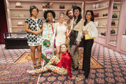 Kiersey Clemons, Kota Eberhardt, Sydney Sweeney, Bella Heathcote, Alaska Lynch, Zumi Rosow and Alexa Demie at Gucci Handbag Nordstrom shop on August 14, 2019 in Seattle, Washington.