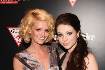Lydia Hearst Michelle Trachtenberg GUESS and Marie Claire Host Opening of GUESS Flagship - Red Carpet
