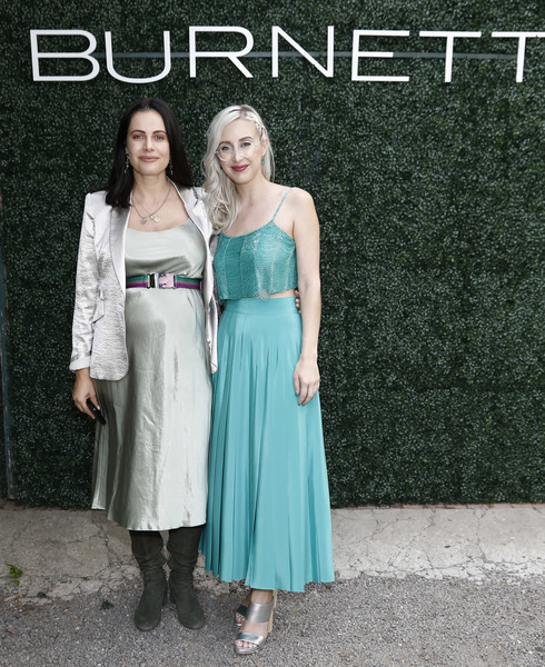 Burnett Spring 2020 Runway Show And Garden Party [burnett spring 2020 runway show,clothing,dress,pattern,bridal party dress,fashion,design,formal wear,event,fashion design,burnett,gabriela dias,co-founder,co-ceo,sterling mcdavid,new york city,elizabeth street gardens,garden party,fashion show]