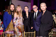 (L-R) Tom Kaulitz, Heidi Klum, Monica Mitro, Nigel Curtis and Bill Kaulitz attend the Angel Ball 2019 hosted by Gabrielle's Angel Foundation at Cipriani Wall Street on October 28, 2019 in New York City.