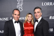Julia Michaels and Honorees, Avery Lipman and Monte Lipman attend the 2018 Angel Ball hosted by Gabrielle's Angel Foundation at Cipriani Wall Street on October 22, 2018 in New York City.