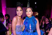 Keke Palmer and Angela Simmons attend the Angel Ball 2019 hosted by Gabrielle's Angel Foundation at Cipriani Wall Street on October 28, 2019 in New York City.
