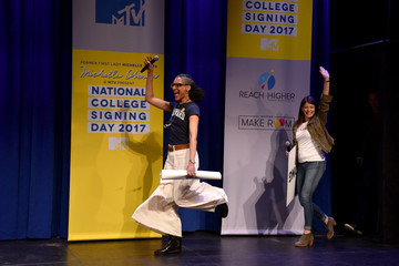 Gail Simmons MTV's 2017 College Signing Day with Michelle Obama - Inside