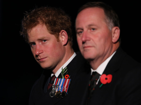 Prince Harry and New Zealand Prime Minister John Key, (R) attend a ceremony marking the 100th anniversary of the Battle of Gallipoli, at Anzac Cove on April 25, 2015 in Gallipoli,Turkey. Turkish and Allied powers representatives, as well as family members of those who served, are commemorating the 100th anniversary of the Gallipoli campaign with ceremonies at memorials across the Gallipoli Peninsula. The Gallipoli land campaign, in which a combined Allied force of British, French, Australian, New Zealand and Indian troops sought to occupy the Gallipoli Peninsula and the strategic Dardanelles Strait during World War I, began on April 25, 1915 against Turkish forces of the Ottoman Empire. The Allies, unable to advance more than a few kilometers, withdrew after eight months. The campaign cost the Allies approximately 50,000 killed and up to 200,000 wounded, the Ottomans approximately 85,000 killed and 160,000 wounded.