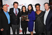 Asi Burak, Nicholas D. Kristof, America Ferrera, Sheryl WuDunn, Michelle Byrd and Ken Weber attend Games For Change presents the launch of Half The Sky Movement: The Game at No. 8 on March 4, 2013 in New York City.