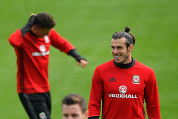 Gareth Bale Wales Training and Press Conference
