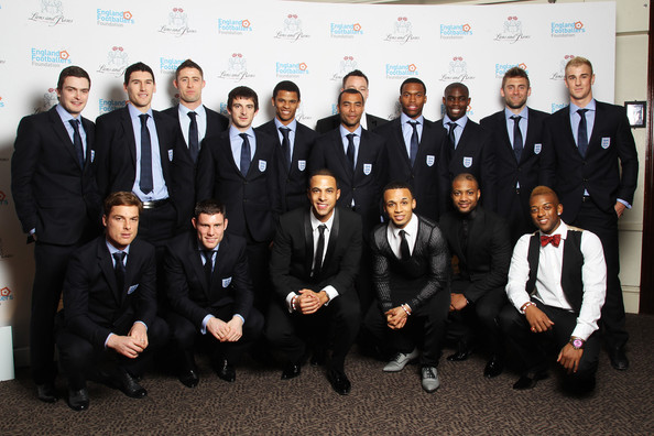 Lions And Roses Charity Dinner 2012 - Arrivals [team,suit,event,formal wear,white-collar worker,tuxedo,company,management,arrivals,adam johnson,members,lions,coverage,squad,boyband,england,roses charity dinner,the england footballers foundation lions and roses charity dinner]