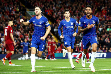 Gary Cahill Liverpool v Chelsea - Carabao Cup Third Round