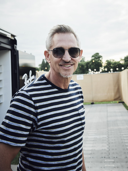 Ray Ban Studios At All Points East Festival 2019 [eyewear,sunglasses,white,cool,glasses,head,vacation,vision care,summer,fun,gary lineker,handout image,ray-ban studios,victoria park,london,england,ray ban studios,ray-ban,all points east festival]