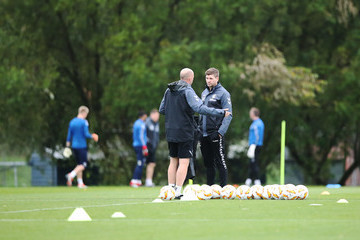 Gary McAllister Rangers Training Session