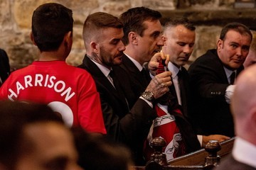 Gary Neville Funeral For Former Football Player And Coach Eric Harrison MBE