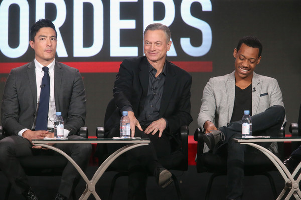 2016 Winter TCA Tour - Day 8 [criminal minds: beyond borders,event,news conference,spokesperson,speech,meeting,convention,public speaking,businessperson,conversation,business,actors,gary sinise,daniel henney,tyler james williams,l-r,langham huntington hotel,winter tca,cbs,panel discussion]