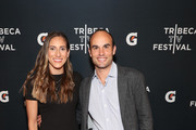 "(L-R) Melissa Ortiz and Landon Donovan arrive at the Gatorade premiere of the docu-series, ""Cantera 5v5"" during the Tribeca TV Festival on Saturday, September 14, 2019 in New York City."