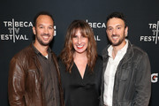 """(L-R) Filmmaker Jeff Zimbalist, PepsiCo Content Studio's Ally Polly and filmmaker Michael Zimbalist arrive at the Gatorade premiere of the docu-series, """"Cantera 5v5"""" during the Tribeca TV Festival on Saturday, September 14, 2019 in New York City."""