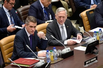 Gavin Williamson NATO Defence Council Meeting at the NATO Headquarters in Brussels