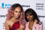 (L-R) Talulah Eve and Sinitta attend the Gay Times Honours held at National Portrait Gallery on November 18, 2017 in London, England.
