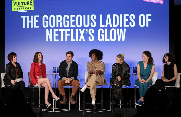 Vulture Festival Presented By AT&T - Milk Studios, Day 1 [event,font,performance,media,company,talent show,television program,stage equipment,team,stage,jan chaney,gayle rankin,sydelle noel,liz flahive,chris lowell,alison brie,l-r,milk studios,at t,vulture festival]