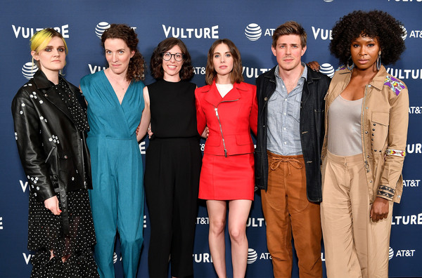 Vulture Festival Presented By AT&T - Milk Studios, Day 1 [premiere,event,fashion,carpet,red carpet,fashion design,performance,flooring,carly mensch,gayle rankin,chris lowell,sydelle noel,liz flahive,new york city,milk studios,at t,vulture festival]
