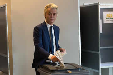Geert Wilders Geert Wilders Casts His Vote In The Dutch General Election