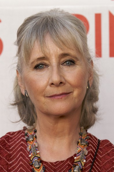Gemma Jones - 2017 Grey hair & alternative hair style. Current length:  medium long hair