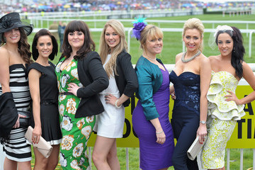 Gemma Merna Fashion And Celebrities At Aintree - Day 3 - Grand National Day