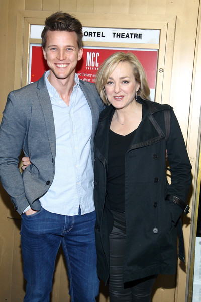 'Smokefall' Opening Night - Arrivals & Curtain Call [outerwear,event,jacket,jeans,smile,geneva carr,dave thomas brown,smokefall,curtain call,new york city,lucille lortel theatre,opening night - arrivals,opening night]