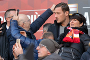 Francesco Totti in tribune during the Serie A match between Genoa CFC and AS Roma at Stadio Luigi Ferraris on November 26, 2017 in Genoa, Italy.