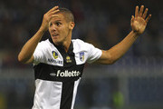 Djamel Mesbah of Parma FC shows his dejection during the Serie A match between Genoa CFC and Parma FC at Stadio Luigi Ferraris on October 30, 2013 in Genoa, Italy.