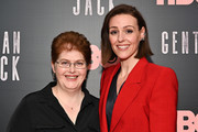 "Sally Wainwright (L) and Suranne Jones attend the ""Gentleman Jack"" New York premiere at Metrograph on April 17, 2019 in New York City."