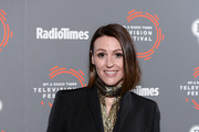 "Suranne Jones attends the ""Gentleman Jack"" photocall and Q&A during the BFI & Radio Times Television Festival 2019 at BFI Southbank on April 14, 2019 in London, England."