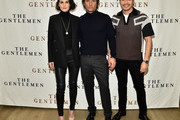 """(L-R) Michelle Dockery, Matthew McConaughey and Henry Golding attend """"The Gentlemen"""" New York Photo Call at the Whitby Hotel on January 11, 2020 in New York City."""