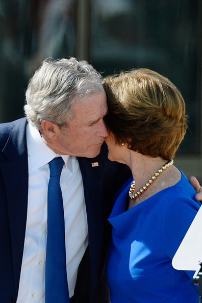 George w and laura bush really. agree