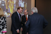 Commissioner of the National Football League (NFL) Roger Goodell and CEO of Hearst Corporation Steve Swartz attend the George Bodenheimer Book Party at Hearst Tower on June 2, 2015 in New York City.