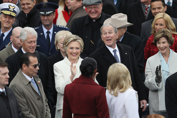 George Bush Donald Trump Is Sworn In As 45th President Of The United States