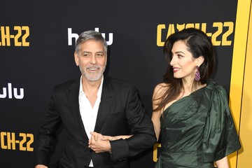 George Clooney Amal Clooney US Premiere Of Hulu's 'Catch-22' - Arrivals